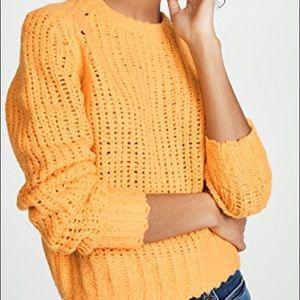 BNWT rag & bone gold open knit merino wool sweater